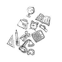B Baosity スタンプ ゴム印 クリア シリコン フォトアルバム飾り ノートや日記の装飾 全5スタイル - スタイル5
