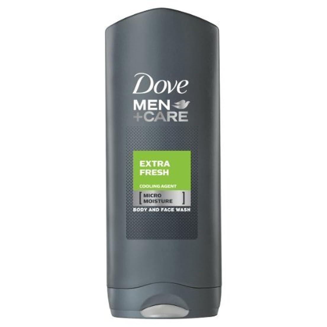 滑るコットン強調するDove for Men Extra Fresh Body and Face Wash 250 ml by Dove [並行輸入品]