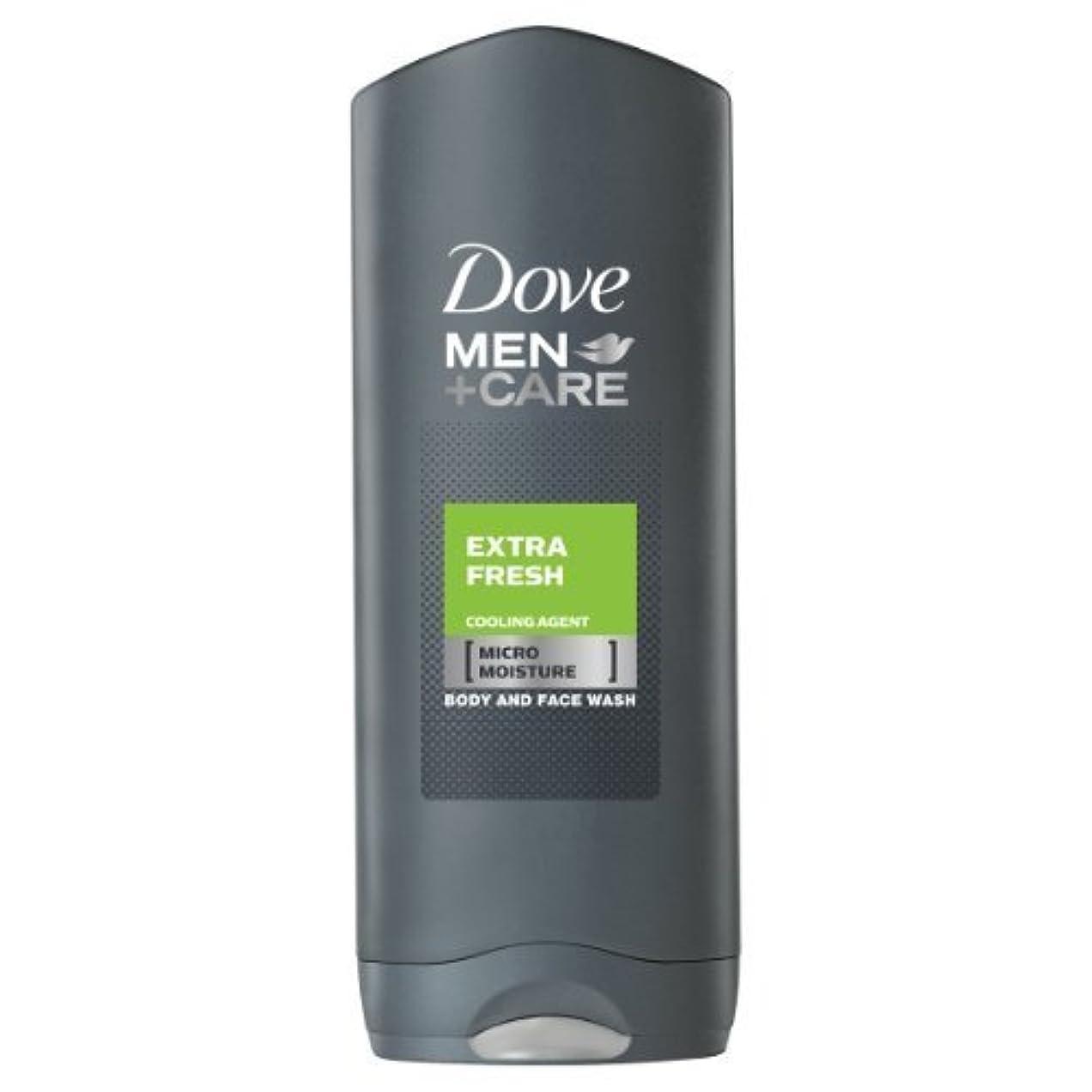 高尚なタイトル不適切なDove for Men Extra Fresh Body and Face Wash 250 ml by Dove [並行輸入品]
