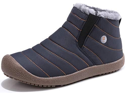 [SIXSPACE] スノーブーツ メンズ レディース ショート ブーツ スノーシューズ 防水 防寒 防滑 保暖 裏起毛 冬用 カジュアル 綿靴 雪靴 ブルー 26cm