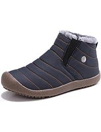 Sixspace スノーブーツ メンズ レディース ショート ブーツ スノーシューズ 防水 防寒 防滑 保暖 裏起毛 冬用 カジュアル 綿靴 雪靴