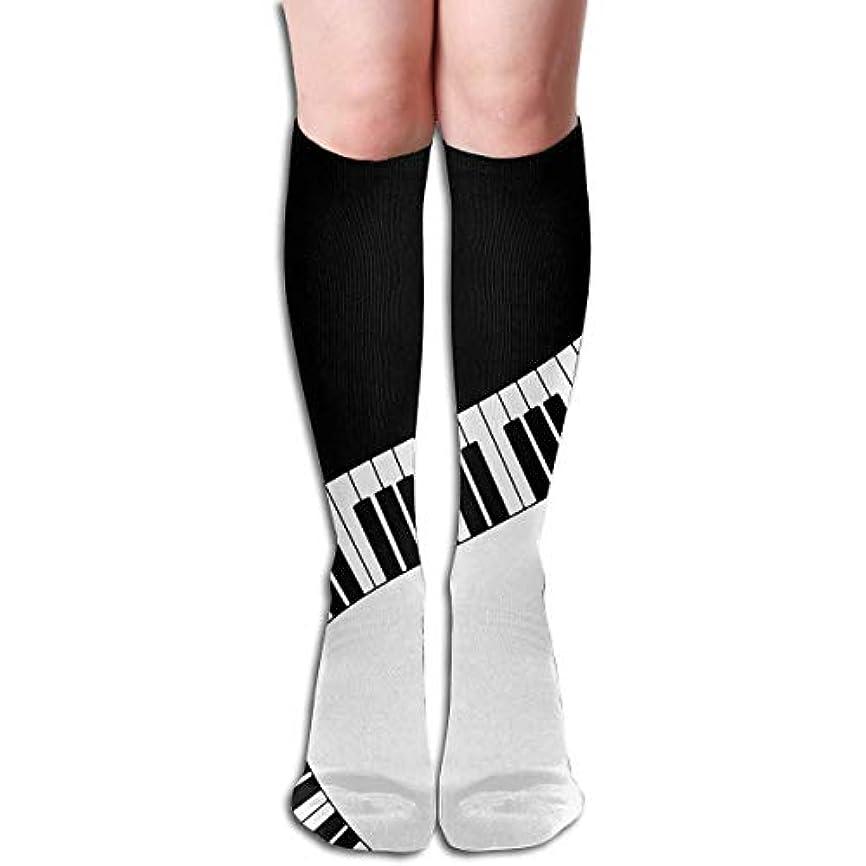 追加するハイブリッドコインクリスマスキラキラ女性のピアノのキーソフトクリスマス膝高ストッキング靴下、クリスマス楽しいカラフルな靴下ソックス