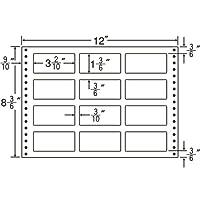 東洋印刷 タックフォームラベル 12インチ ×8 3/6インチ 12面付(1ケース500折) LT12O