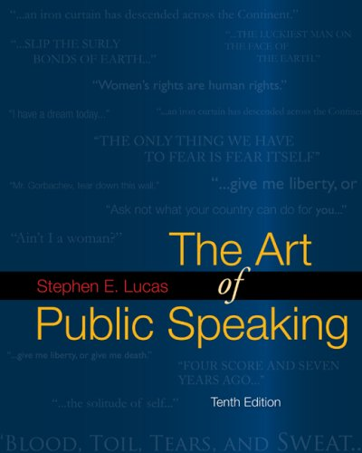 The Art of Public Speaking with Media Ops Setup ISBN Lucas
