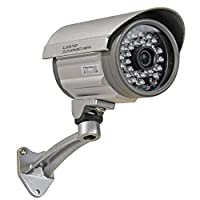 VideoSecu Outdoor Day Night Vision Infrared Bullet Security Camera Built-in 1/3'' Sony CCD 3.6mm Wide View Lens 28 IR LEDs for Home DVR CCTV Surveillance with Free Power Supply IRX36S BAJ [並行輸入品]