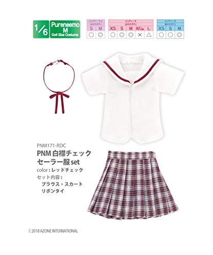 ピュアニーモ用 PNM 白襟チェックセーラー服セット レッドチェック (ドール用)