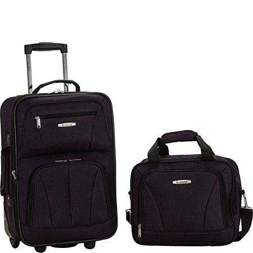 ロックランド バッグ スーツケース Rio 2 Piece Carry On Luggage Set Purple [並行輸入品]