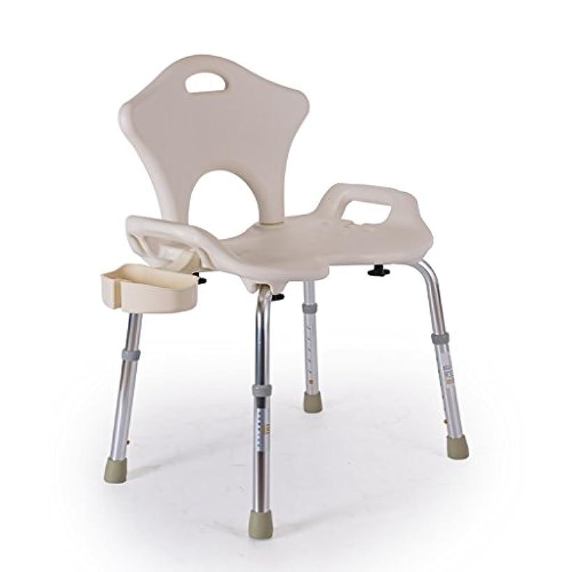 責任者簡潔な存在するYxsd シャワースツール 背もたれ付き調節可能シャワーチェア - 障害者用アーム付きバスタブチェア、身体障害者、高齢者の高齢者ホワイト