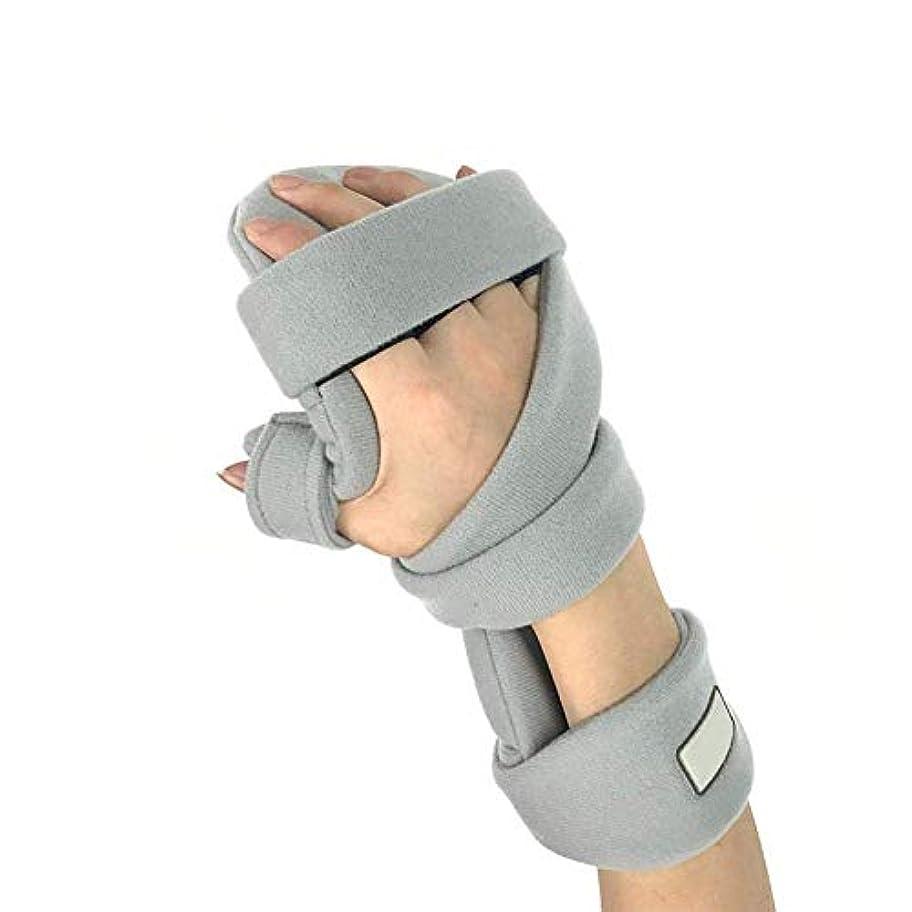 弾性手首サポート副木、指副木、手根管、痛みを軽減する手根管、骨折、捻挫および関節の痛みを軽減,Right