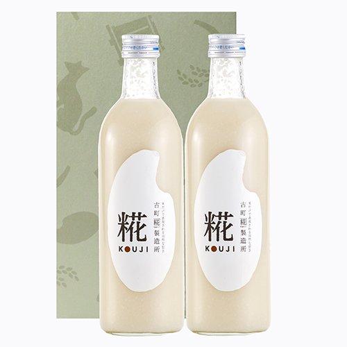甘酒「糀ドリンク」詰め合わせ 糀(プレーン) 500ml×2本入りセット