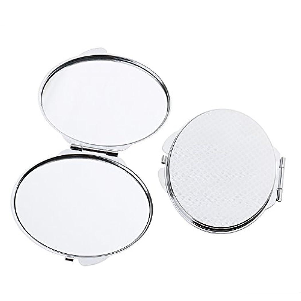好きである抗議コメンテーター化粧鏡 ポケット メイクミラー 鏡 両面 折りたたみ メイクアップ 2タイプ選べる - 丸い
