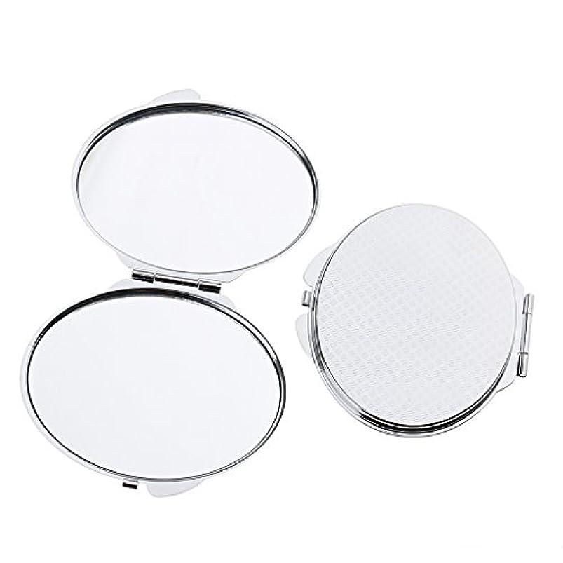 ワーカー保証金シネマ化粧鏡 ポケット メイクミラー 鏡 両面 折りたたみ メイクアップ 2タイプ選べる - 丸い