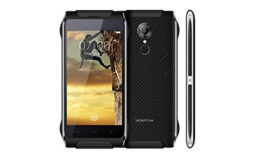 HOMTOMHT20スマートフォンアウトドアIP68防水・防塵・耐衝撃・屋外用・指紋認識・4.7inchIPSHD1280*7204GLTEMT6737QuadCore2+16GBAndroid6.013.0Mカメラ3500mAhスマートジェスチャー・Hotknot・OTG・SIMロックフリースマートフォン(ブラック)
