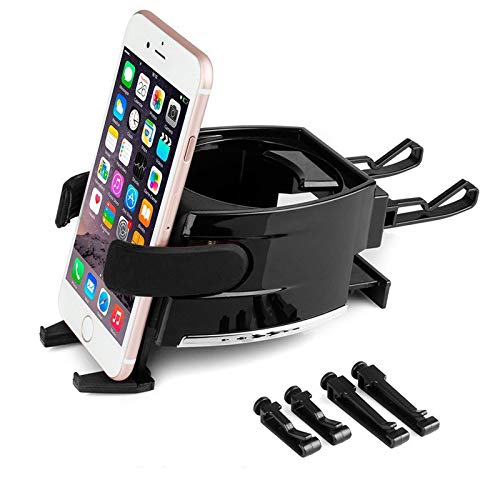 2 in 1 Air Vent Phone Mount Cup Holder Organizer for Car, Universal Drink Bottle Bracket Stand