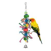 PUERI ペット用品 パロット噛む玩具 インコ 鳥 オウムおもちゃ 吊下げタイプ玩具 ストレス解消
