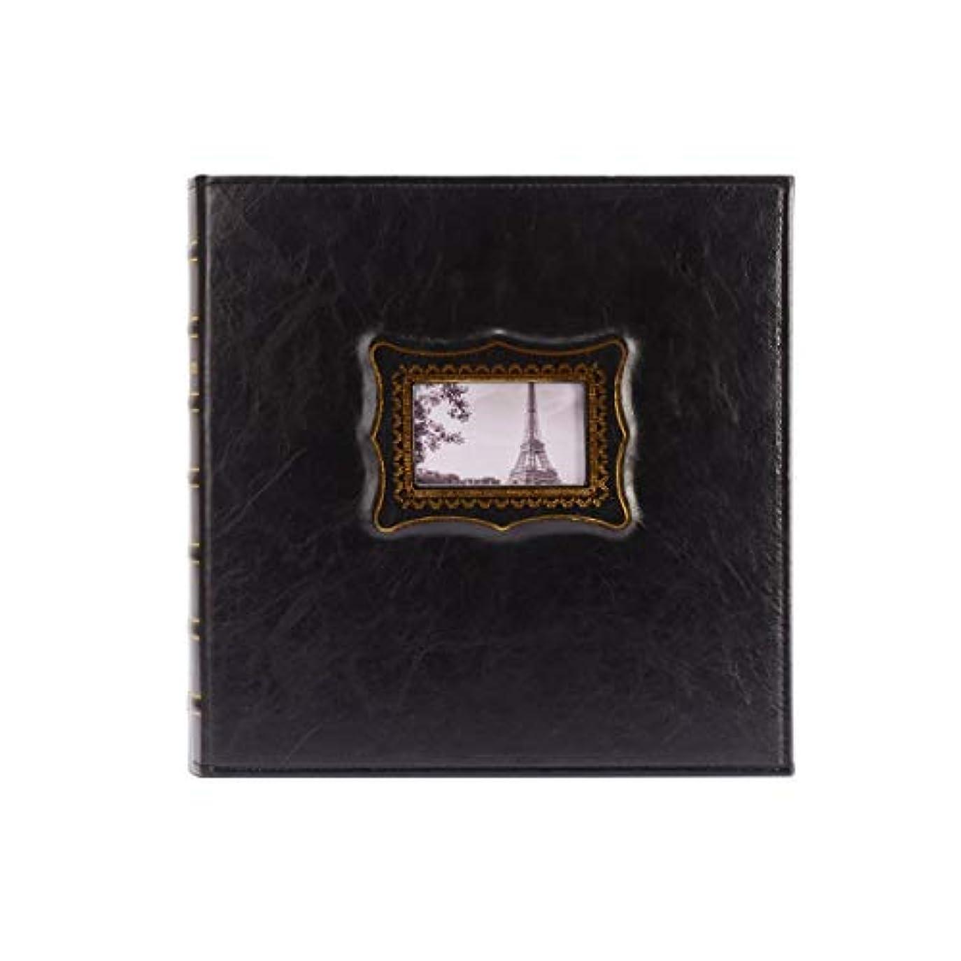 辞任回復する朝ZYZRYP 革のフォトアルバム、間質フォトアルバム、大容量のフォトアルバムは、6インチ/ 600写真、完璧な贈り物を収容することができ、家族の写真アルバム、 (Color : Black)
