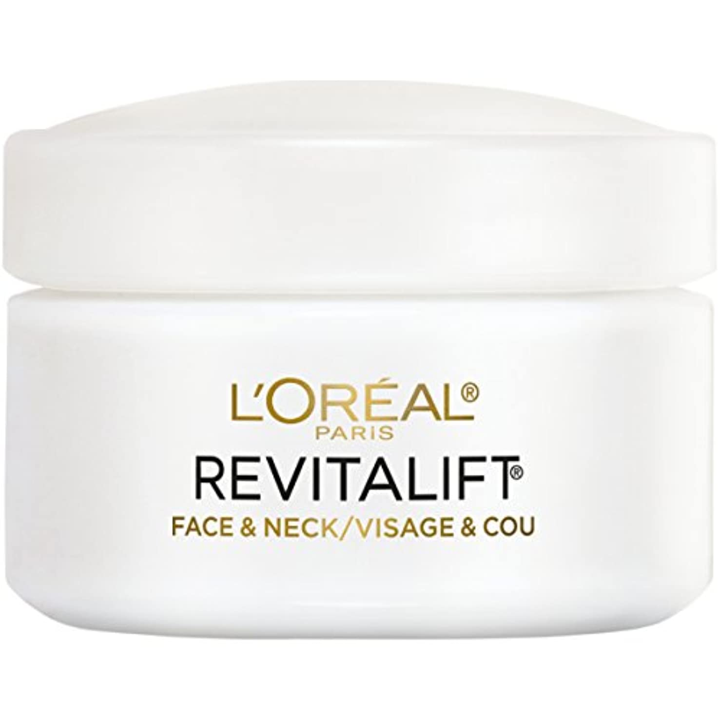 ビーチ等適用するL'Oreal Paris Advanced RevitaLift Face and Neck Day Cream, 1.7 Ounce (並行輸入品)