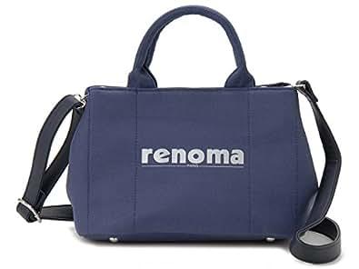 (レノマ) renoma ハンドバッグ 1505001-21302 キャンバス 2WAYバッグ ネイビー [並行輸入品]