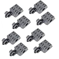 LEGOブロック・純正パーツ<テクニック・ブロック>Brick Modified 2 x 2 with Pin Hole, Rotation Joint Ball Half (Vertical Side) (8個, Dark Bluish Gray) [並行輸入品]
