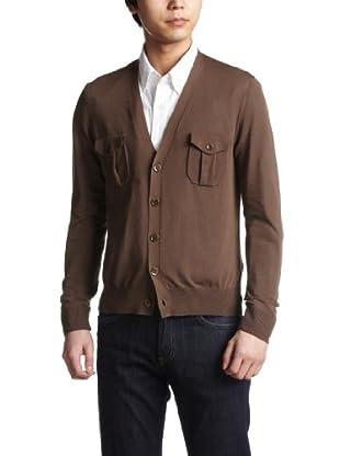 Cotton Safari Cardigan 1113-106-2676: Mocha