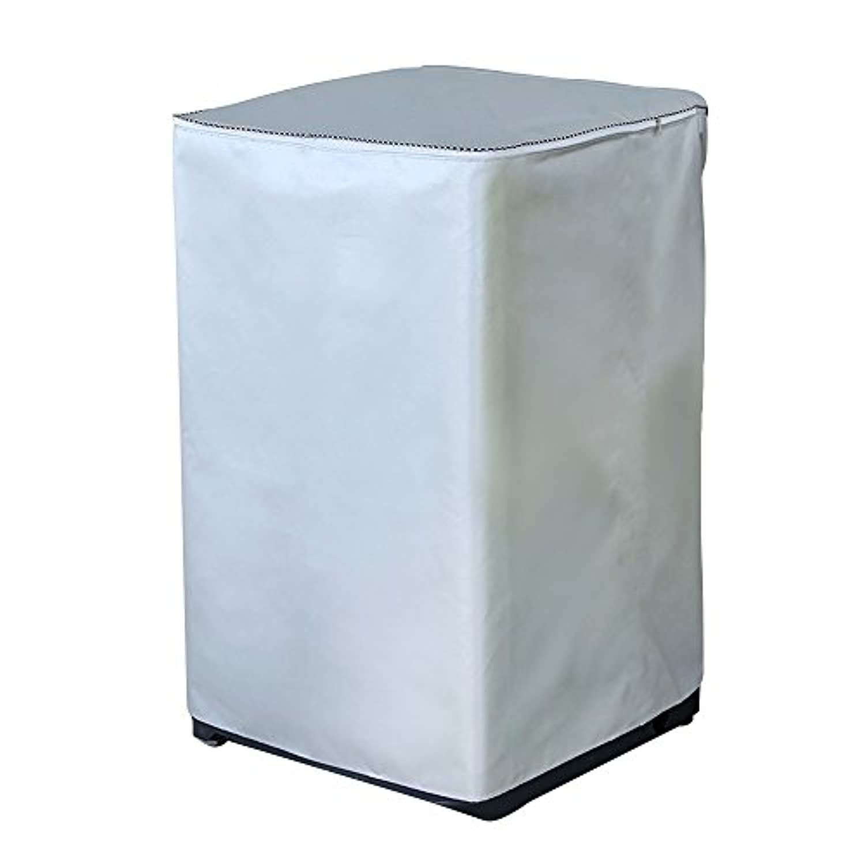 洗濯機カバー 全自動式 防水、ほこりよけ、日焼け止め、四面包み 全面保護 シルバーコーティング シルバー オックスフォ一ド 高品質(アップグレイド)
