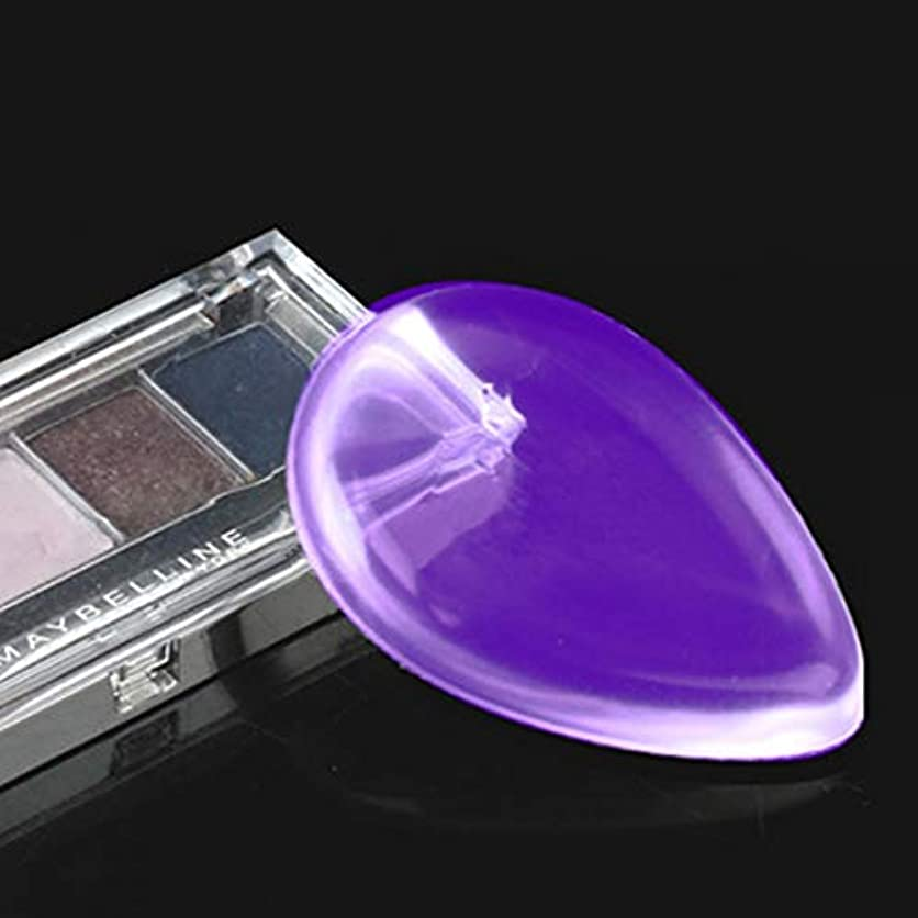 団結する科学者調和MEI1JIA QUELLIA水滴形の偉大な美しさの顔メイク透明シリコンスムーズなパウダーシュークリーム(ブルー) (色 : 紫の)