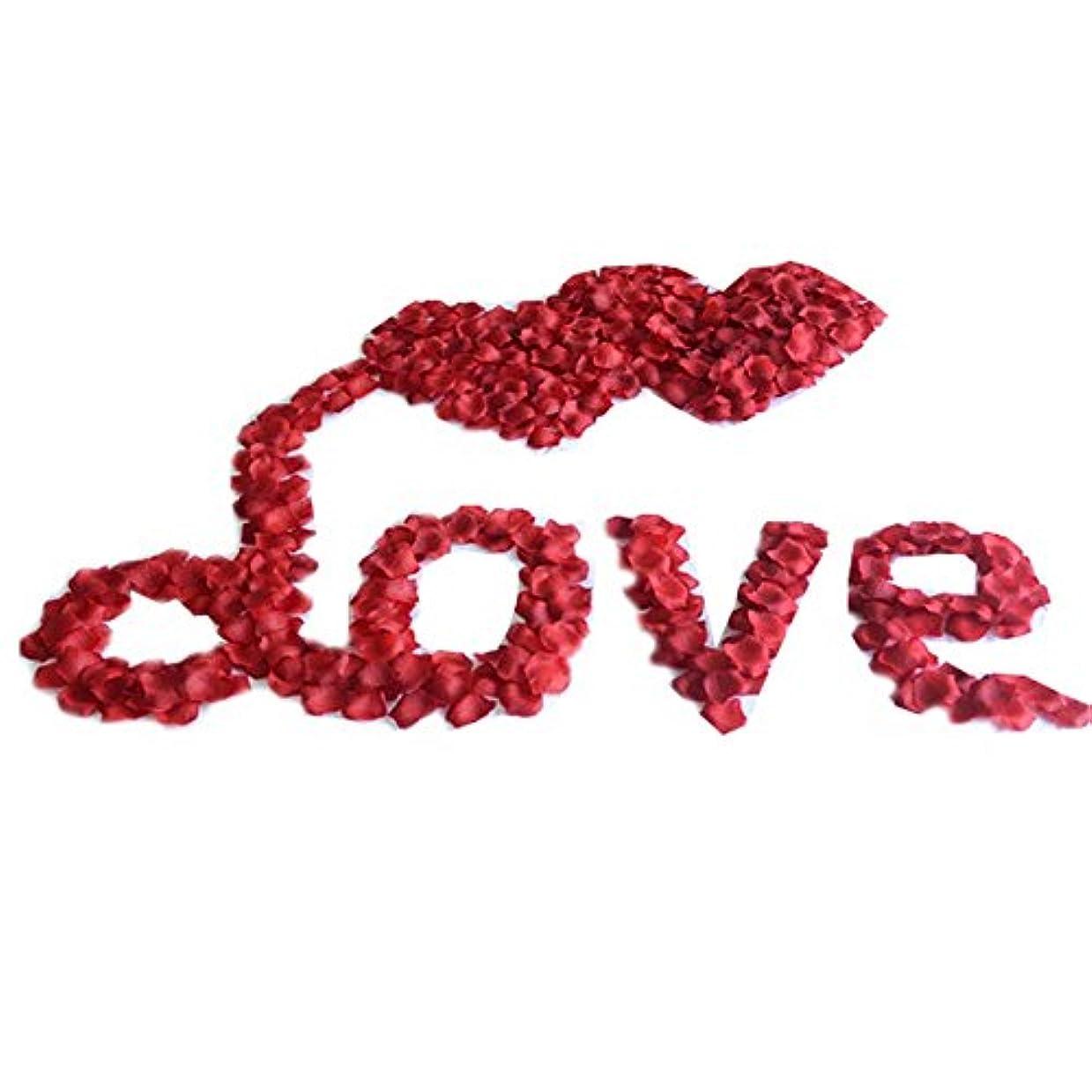 スタッフメディック赤字結婚式の装飾のための人工のバラの花びらのセット