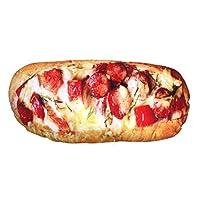 Tichan シミュレーション パン ピザ形状枕 ソフト腰部バッククッション ぬいぐるみおもちゃ 食べ物のクッション 誕生日プレゼント さば焼き (60CM)