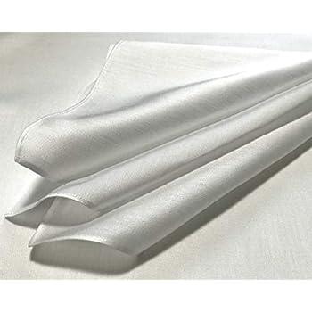 ハンカチ 白 サテン 36cm 5枚組 綿100% ブライダルハンカチ 白ハンカチ ポケットチーフ 染色用 刺繍用