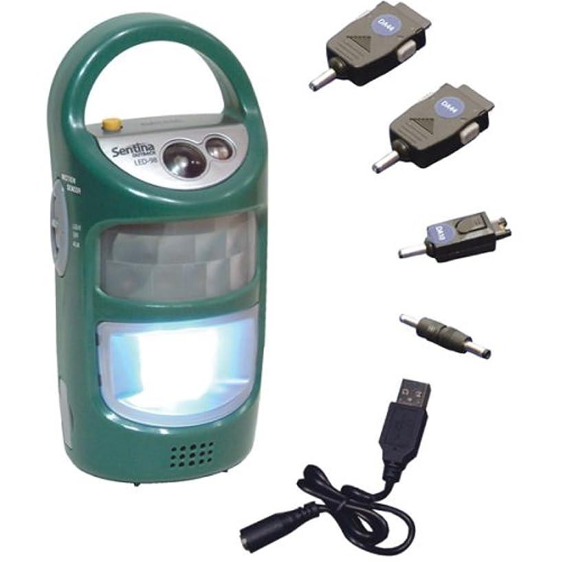 机端末やさしいPOWERBANKクランクジェネレータとTeledex LED-98 Sentinaアウトバックスマート安全ランプ