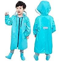 Toddler Boys Girls School Backpack Lightweight Hooded Raincoat Kids Portable Reusable Waterproof Rain Poncho