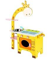 [Woodpeer] キリンマグネットキッチンプレイ (Giraffe Magnet Kitchen Play) 原木, 3歳以上の [海外直送品]