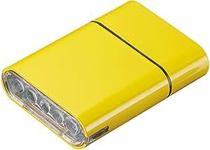 Owleye(オウルアイ) 自転車 LED ライト ヘッドライト 5LED リチウムイオン充電チ USB充電 イエロー 028415
