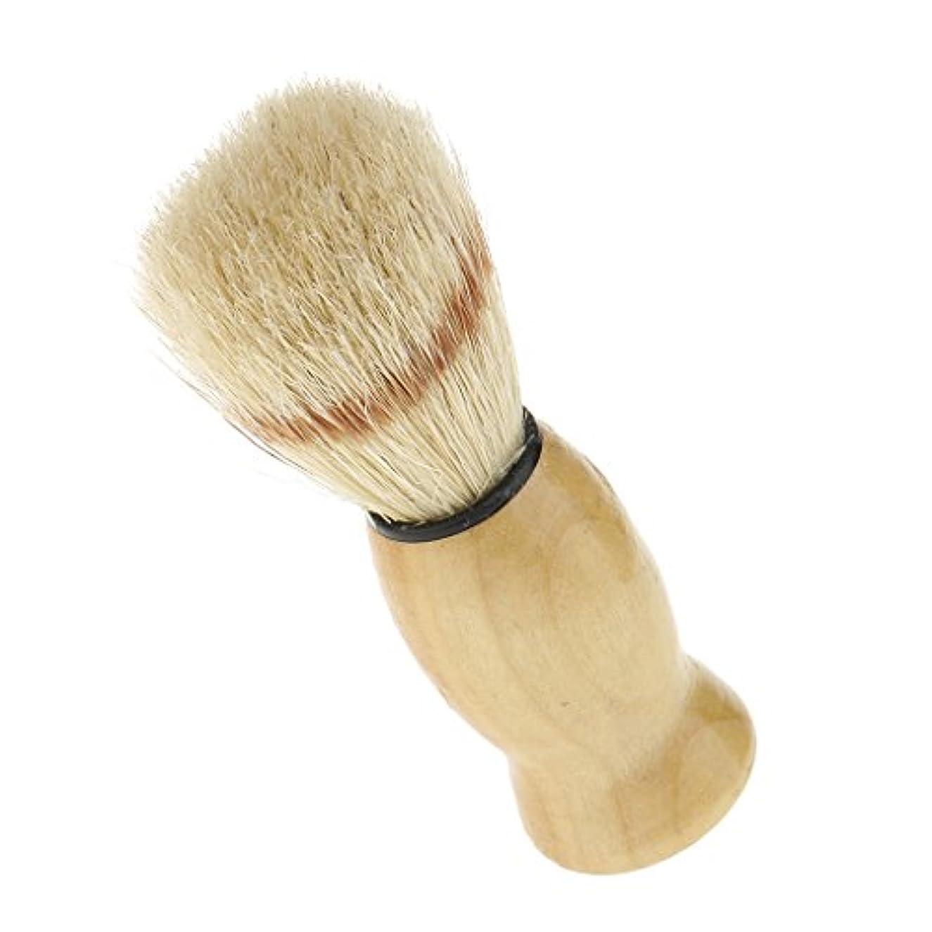 悪党リマーク活気づけるsharprepublic メンズ用 髭剃り ブラシ シェービングブラシ 男性 ひげブラシ 父の日ギフト 全2色 - 黄