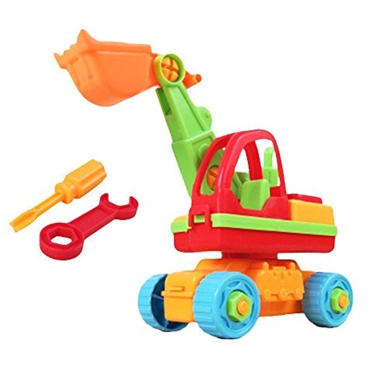 Linshop ファンシー分解のクレーン車のおもちゃ赤ちゃんリムーバブル?アセンブリのネジを1~3歳