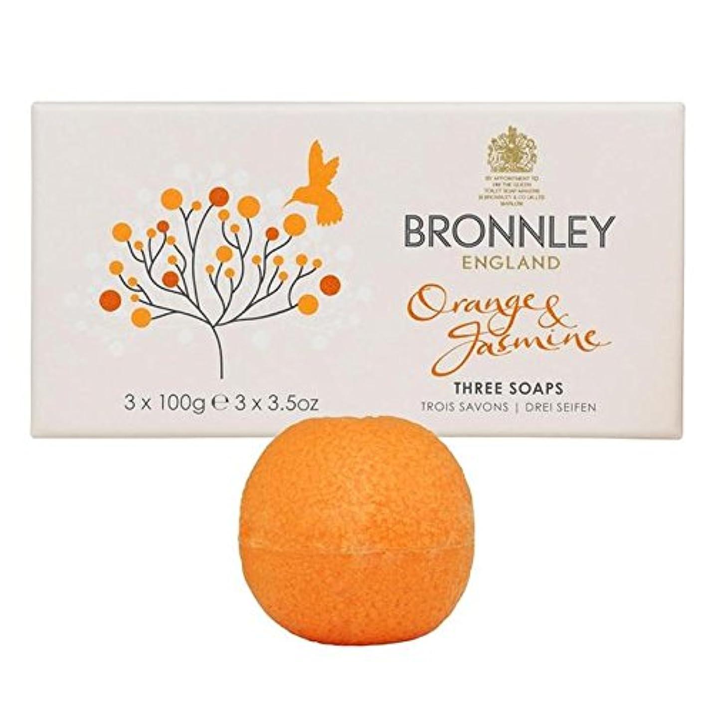 モニカ廃止男やもめオレンジ&ジャスミン石鹸3×100グラム x4 - Bronnley Orange & Jasmine Soaps 3 x 100g (Pack of 4) [並行輸入品]