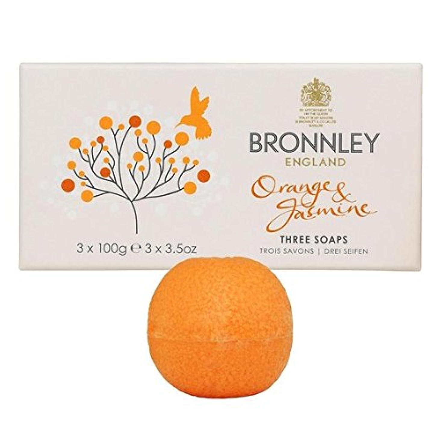 相手よく話される空Bronnley Orange & Jasmine Soaps 3 x 100g (Pack of 6) - オレンジ&ジャスミン石鹸3×100グラム x6 [並行輸入品]