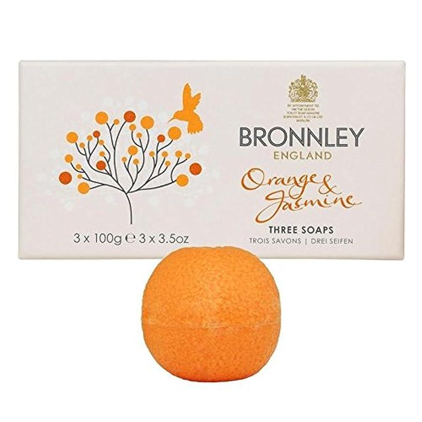 メッセンジャー懐疑論乱暴なオレンジ&ジャスミン石鹸3×100グラム x4 - Bronnley Orange & Jasmine Soaps 3 x 100g (Pack of 4) [並行輸入品]