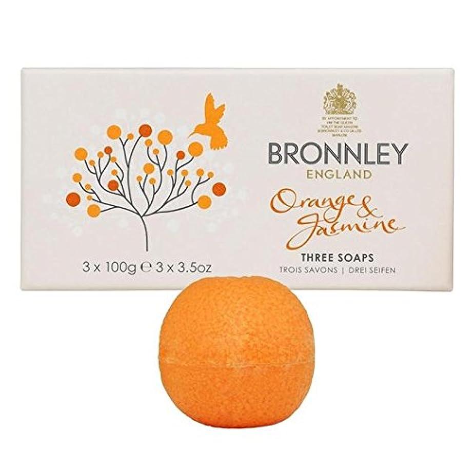 かろうじて浸漬市区町村オレンジ&ジャスミン石鹸3×100グラム x2 - Bronnley Orange & Jasmine Soaps 3 x 100g (Pack of 2) [並行輸入品]