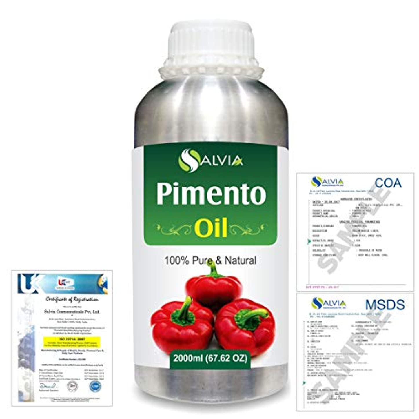 アコー通信する真実にPimento (Pimenta dioica) 100% Natural Pure Essential Oil 2000ml/67 fl.oz.
