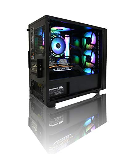 【Astromeda Micro】ゲーミングデスクトップパソコン【Ryzen5-2600 GTX1050Ti RGBメモリ16GB SSD 240GB HDD2TB Widows10Home 64bit Micro ATX 黒ケース】