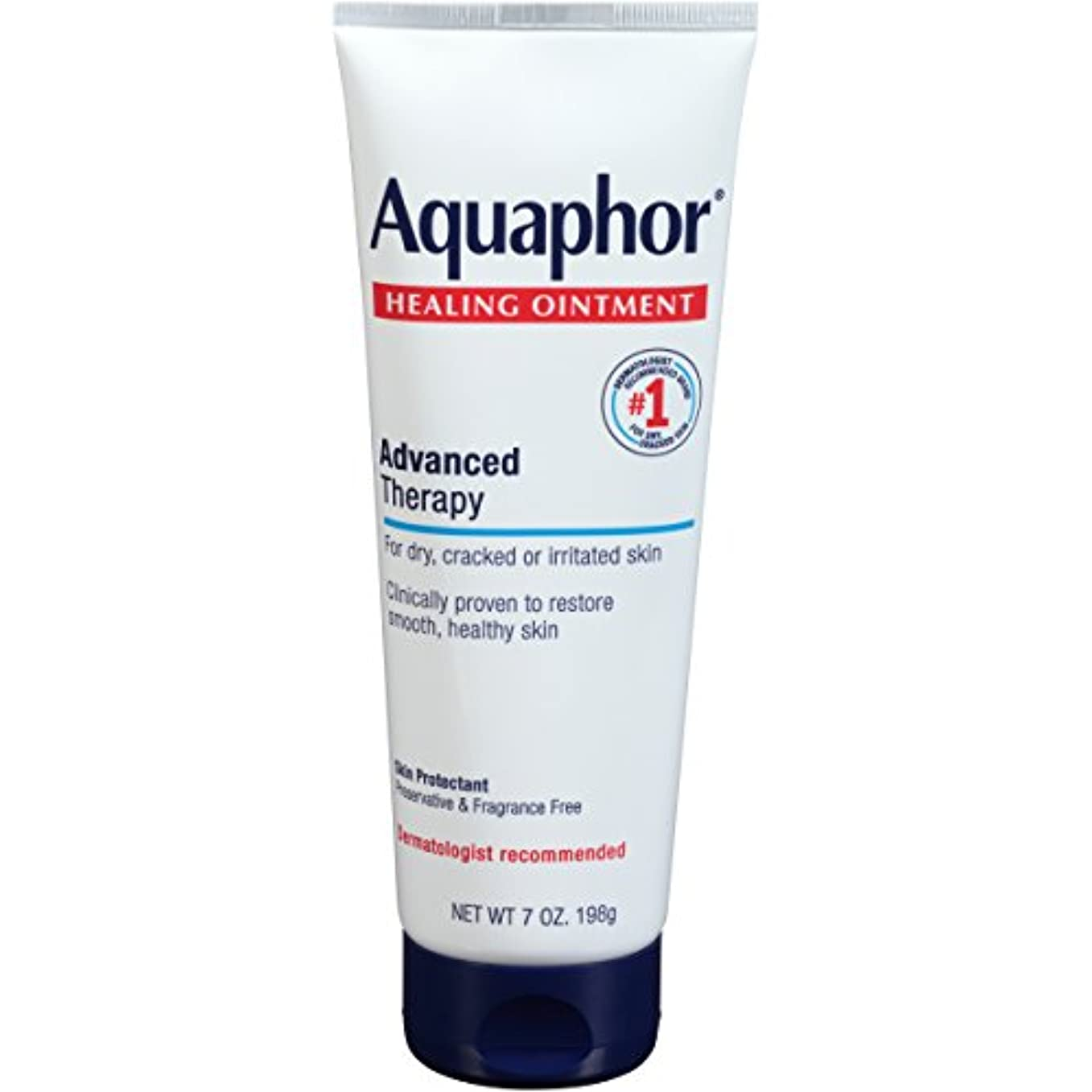 不規則な藤色中古Aquaphor Advanced Therapy Healing OintmentスキンProtectant 7オンスチューブ