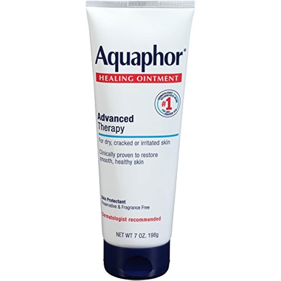 円形のファイター苗Aquaphor Advanced Therapy Healing OintmentスキンProtectant 7オンスチューブ