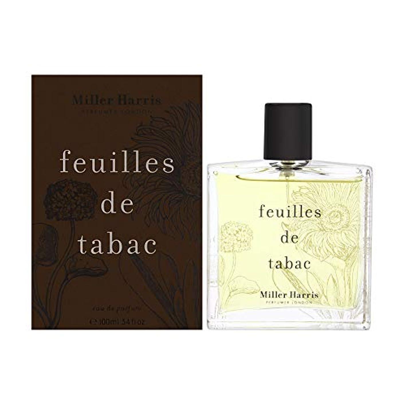 上昇カートリッジだらしないミラーハリス Feuilles De Tabac Eau De Parfum Spray 100ml/3.4oz並行輸入品