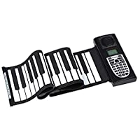 ハンドロールピアノ、初心者向けの折りたたみ式折りたたみ式61キーポータブルシリコンソフトキーボード