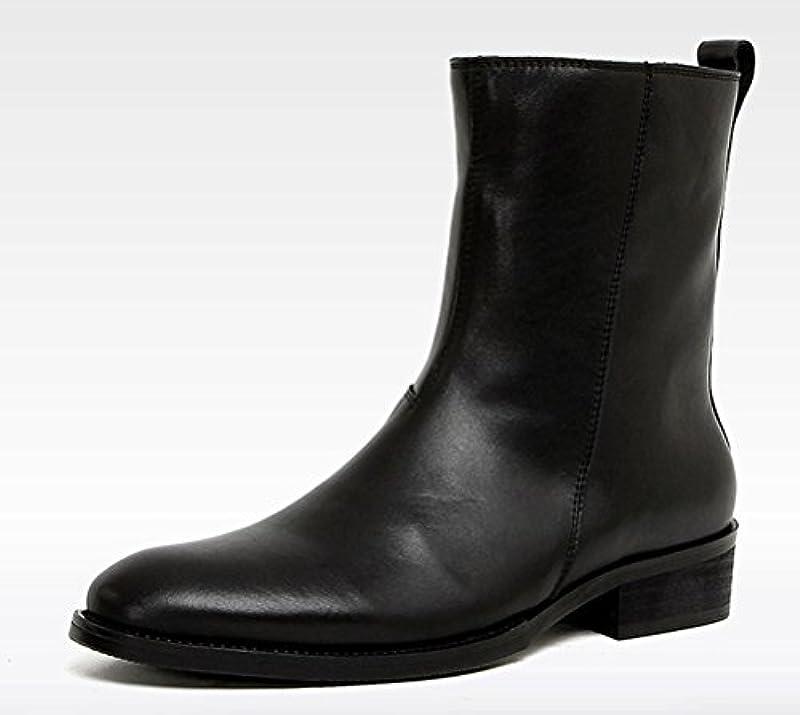 言及するディスコいろいろSERDAOMANI 商標登録102874 メンズ レザー ブーツ ビジネスブーツ ミドルブーツ 本革 ラウンド プレーントゥ 紳士靴 エンジニアブーツ サイドジップ マーティンブーツ(全4色型)830-2