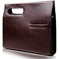 GARDENY クラッチバッグ セカンドバッグ 斜めがけ メンズ レザー A4サイズ対応 の2wayクラッチバッグ