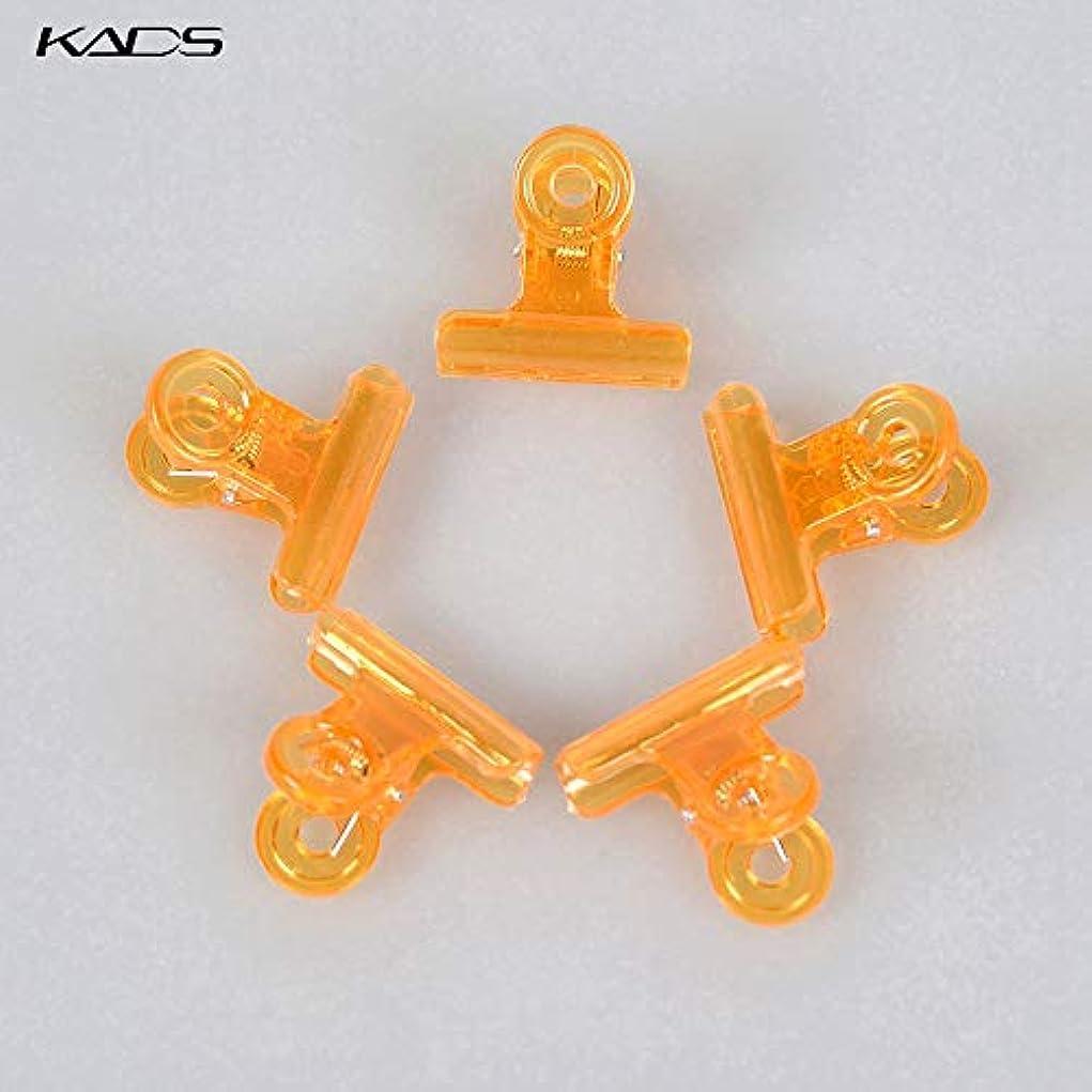 説得力のある盲信主観的KADS ネイルクリップ ネイルエクステンションクリップ プラスチック製 ネイルアート用品 (オレンジ)