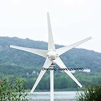 12V 400W風力発電機 防水ウインド 専用 mppt コントローラー付き ボルト固定式(フランジ式) NSKベアリング 5ブレード 低風速 (12V) ソーラーパネル 太陽光パネル ECO環境 小型 家庭用