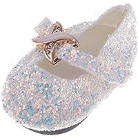 Lovoski 全3色 18インチ人形ドールのため ファッション アクセサリー 靴 シューズ スパンコール フラットシューズ - ホワイト